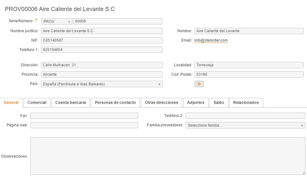 Cómo guardar información de los proveedores