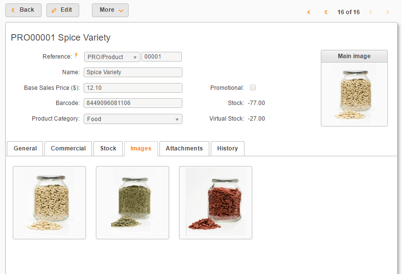 attach images to products
