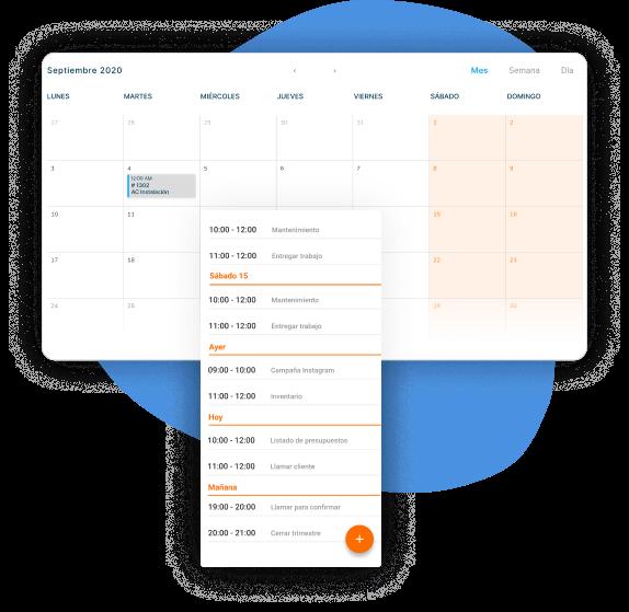 realiza agendas para coordinar los partes de trabajo de tus empleados