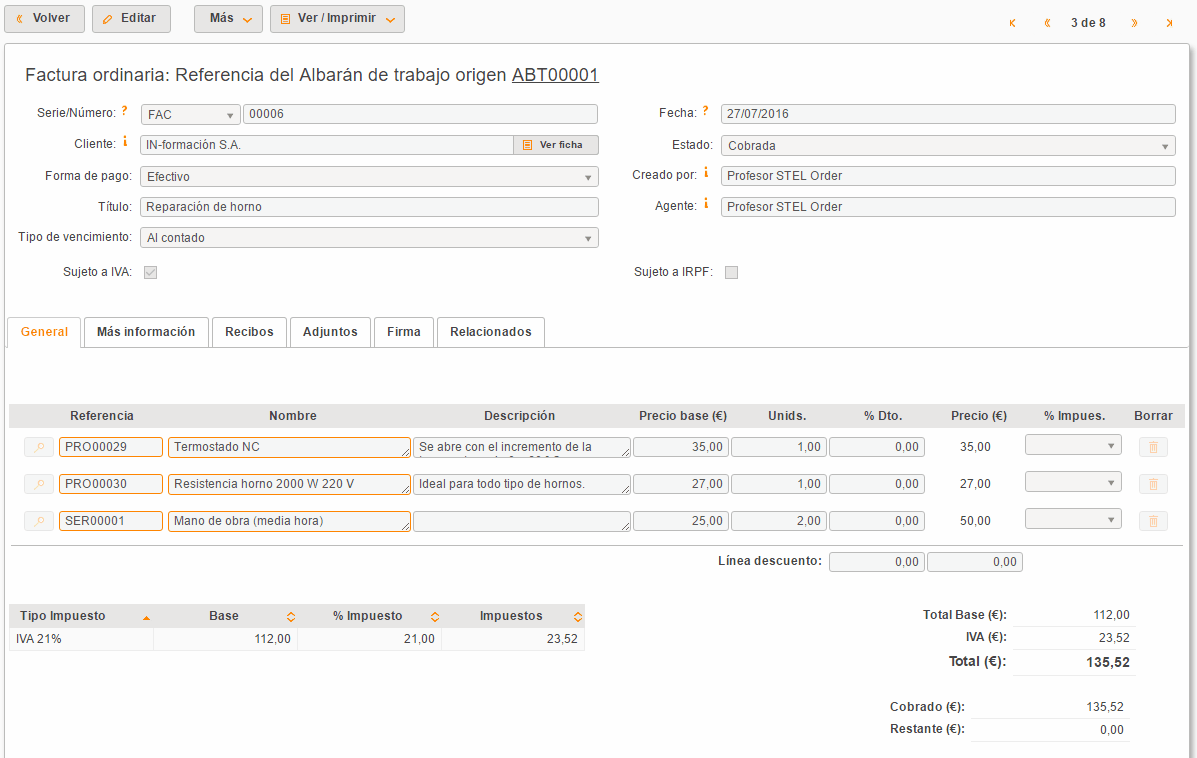 Cómo hacer facturas online
